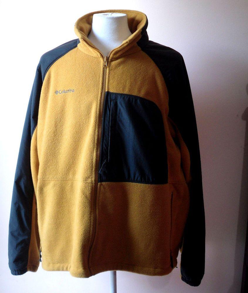 Xxxl mens columbia sportswear interchange fleece jacket w omniwick