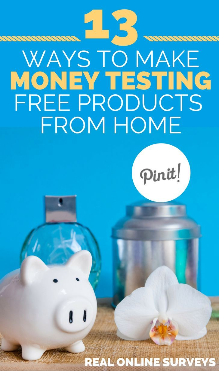 Get money for testing products