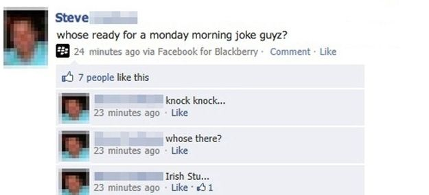 Possibly The Best And Most Convoluted Knock Knock Joke Ever Viralhotspot Com Morning Jokes Knock Knock Jokes Knock Knock