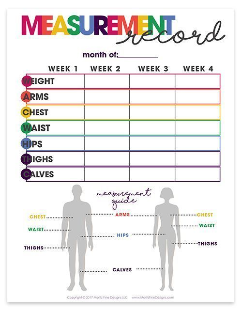 health & fitness planner | printable | organizational printables | weight loss tracker | measurement...
