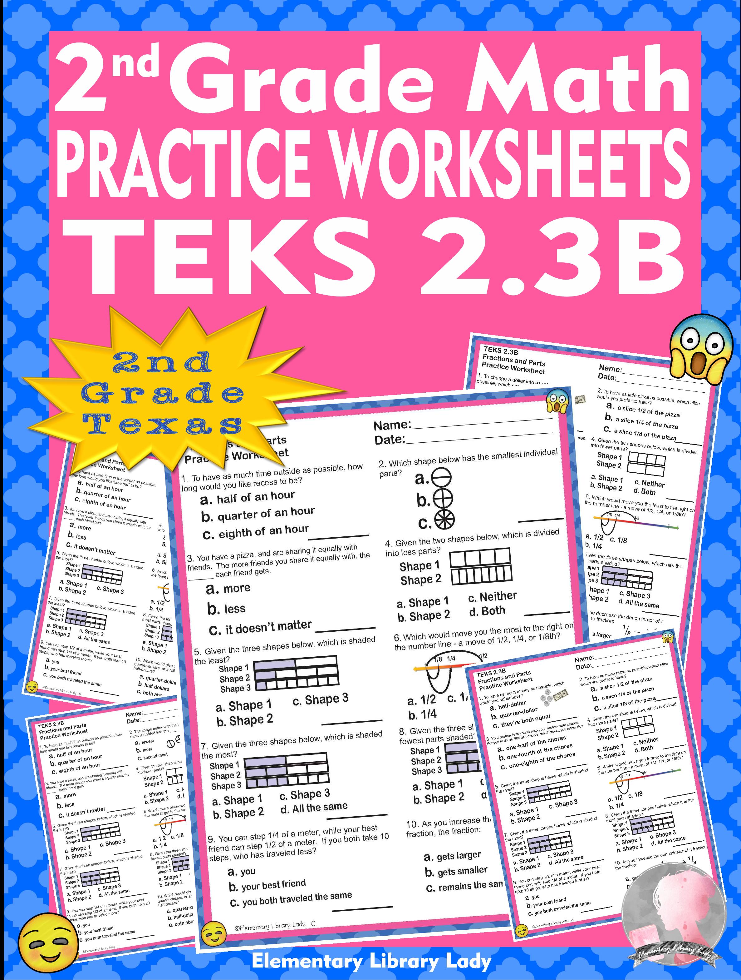 Math Teks 2 3b Texas 2nd Grade Practice Worksheets