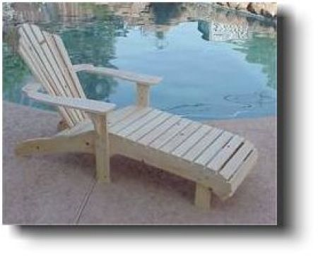 21 5601 Adirondack Lounge Chair Woodworking Plan