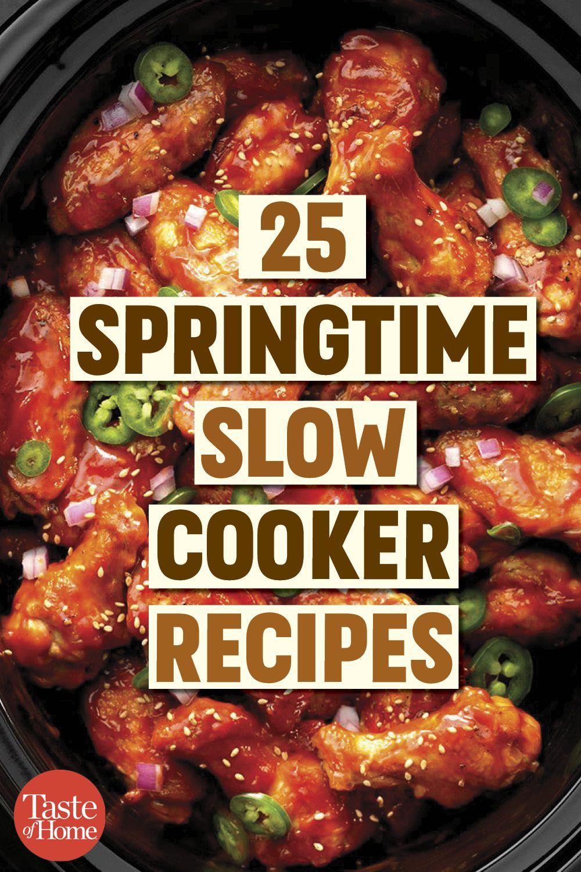 25 Springtime Slow Cooker Recipes Crockpot Recipes Slow Cooker