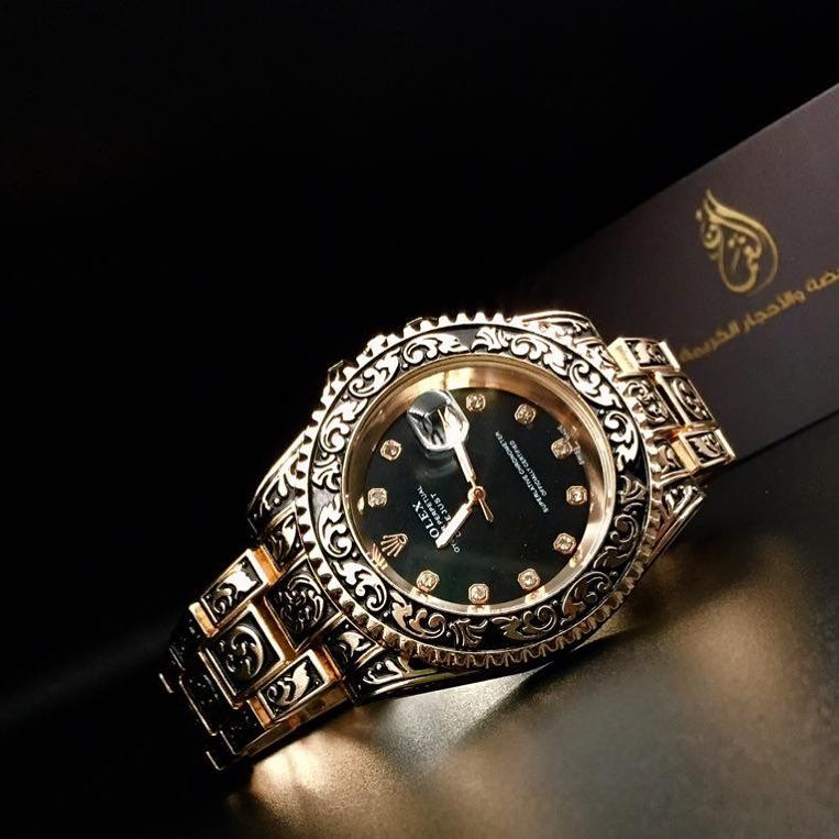 Rolex رولكس مستركوبي هاي كوبي النقش حفر بطراز عربي New جديد متوفرة في النعمان للفضة العنوان في مترو مول شارع الحربي Rolex Watches Rolex Accessories