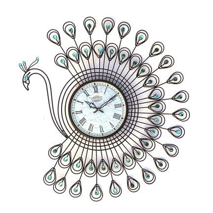 Flourish Concept Designer Wall Clock Peacock Add Oodles Of Style To Your Home With An Exciting Range Of Designer Furniture Wall Clock Design Clock Wall Clock