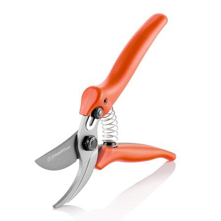 Pruning Shears Tree Trimmers Secateurs,Garden Shears Orange and White