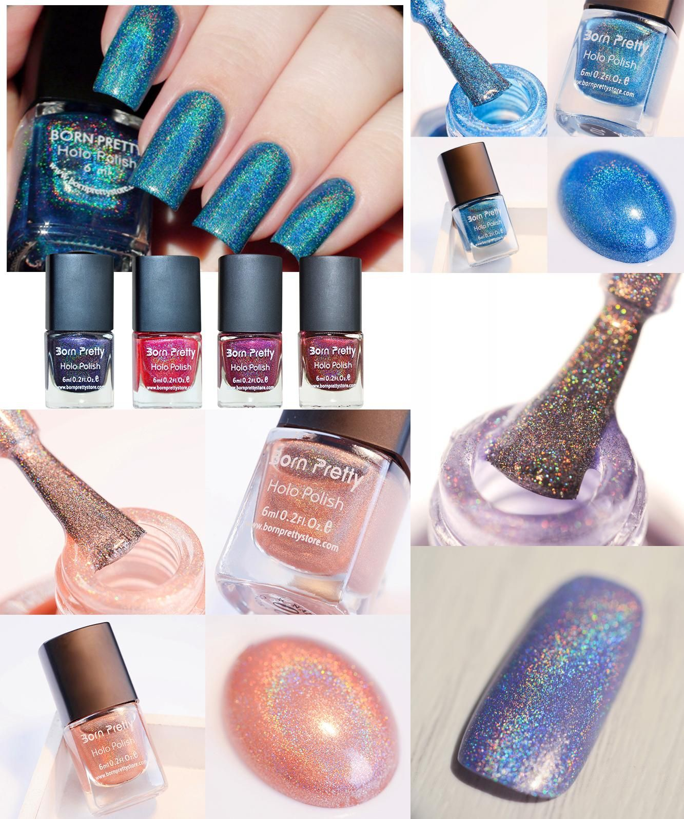 Visit to Buy] BORN PRETTY 1 Bottle Holographic Holo Glitter Nail ...