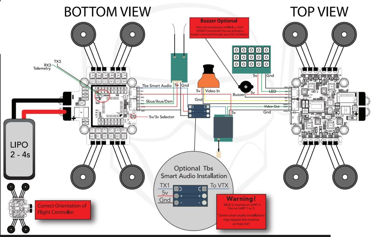 Asgard V2 Flight Controller Integrated Omnibus F4 Fc 4x 24a Dshot Naza Wiring Diagram Visit