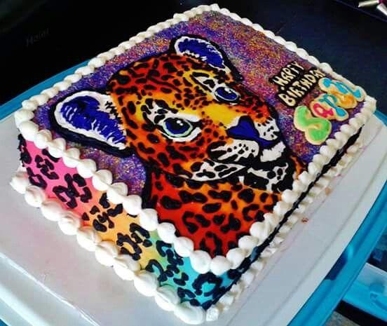Amazing Lisa Frank Cake Lisa Frank Birthday Party Lisa Frank Baking Art Funny Birthday Cards Online Alyptdamsfinfo