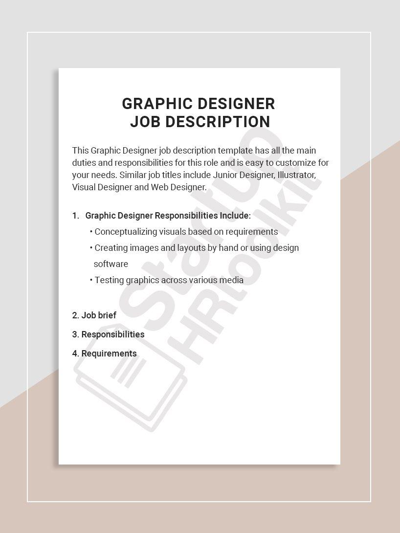 Graphic Designer Job Description Office Assistant Job Description Job Description Template Event Coordinator Job Description