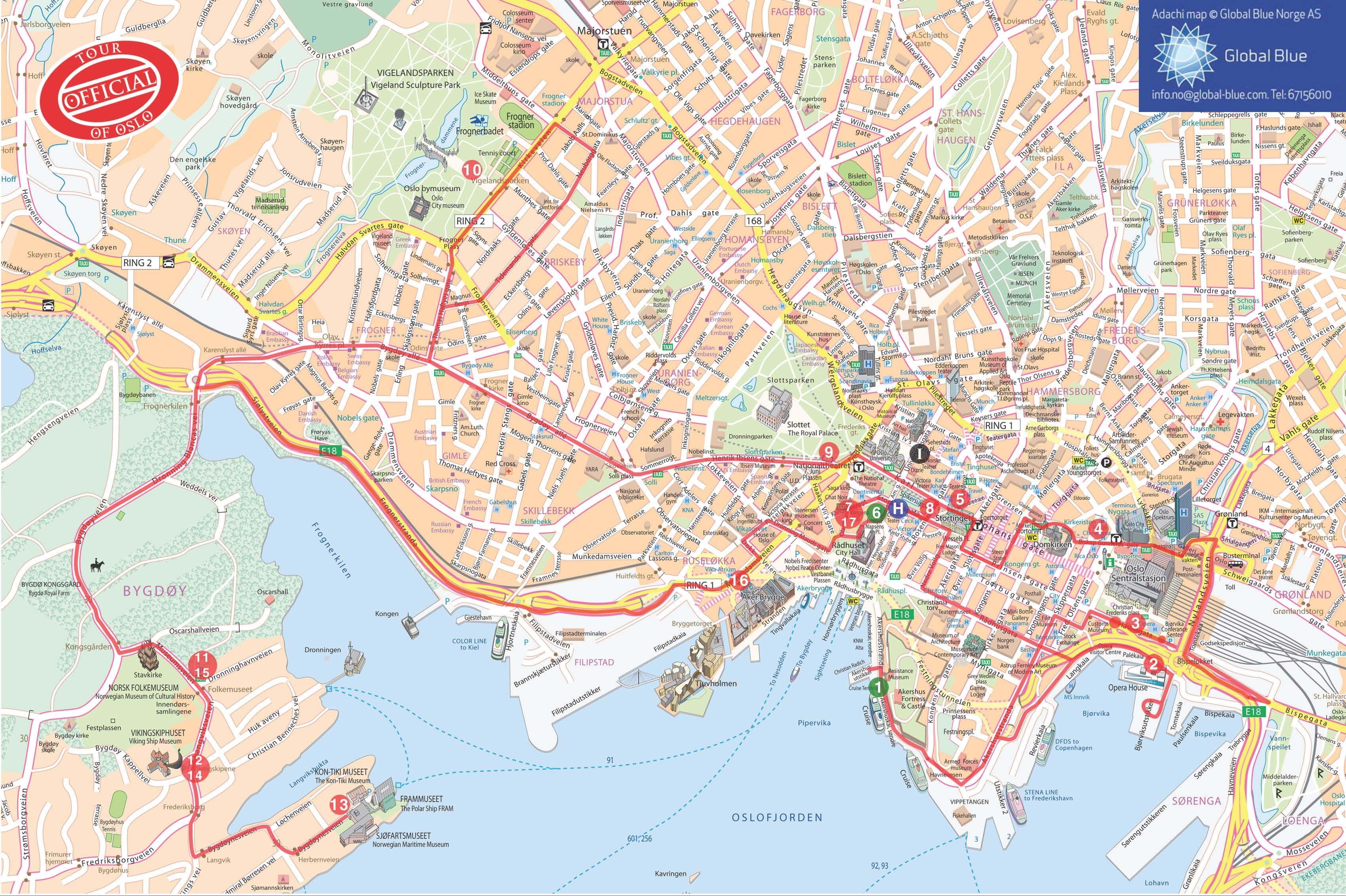 oslo rygge kart oslo tourist map   Google Search | Oslo | Pinterest | Tourist map  oslo rygge kart