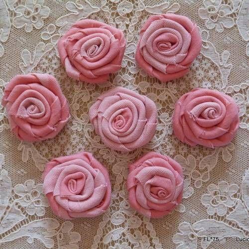 Fl*75 lot de 7 fleurs roses en tissu 3-4cm | Fleurs, Fleur rose, Petite fleur