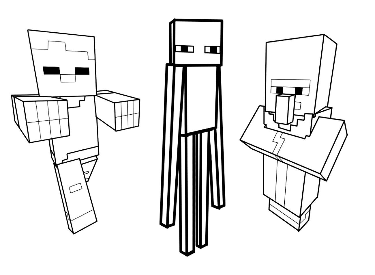Coloriages Imprimer Minecraft Jeux Vidos
