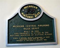 Marker is located inside the depot. The Michigan Central Railroad