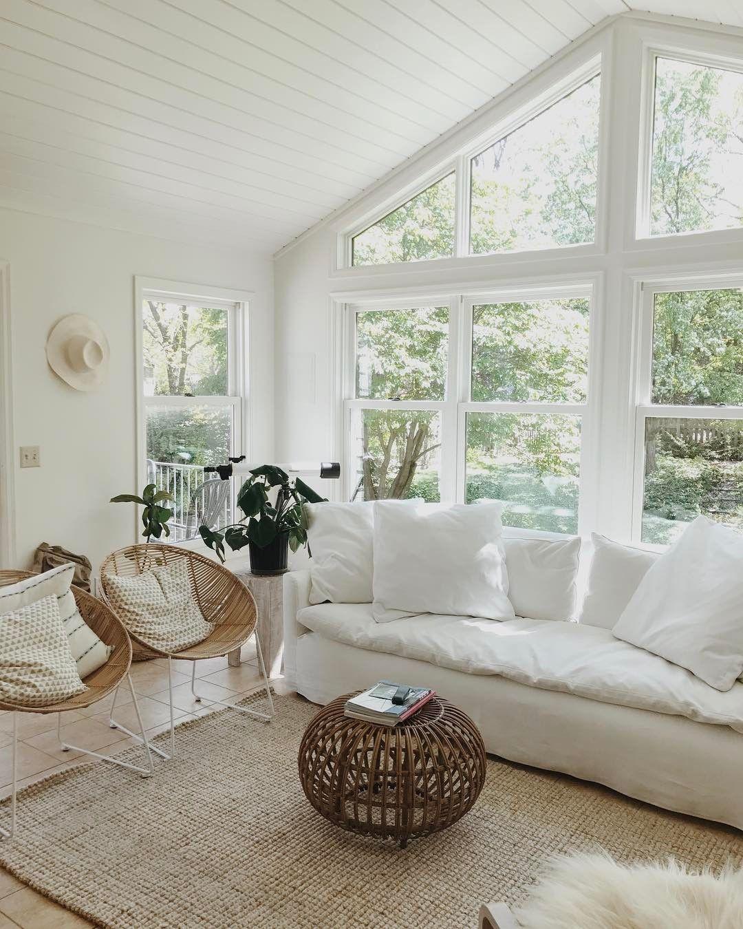 Exceptionnel Basements · White Living Room | Huge Windows | Natural Light | Minimalist  Home Design ...