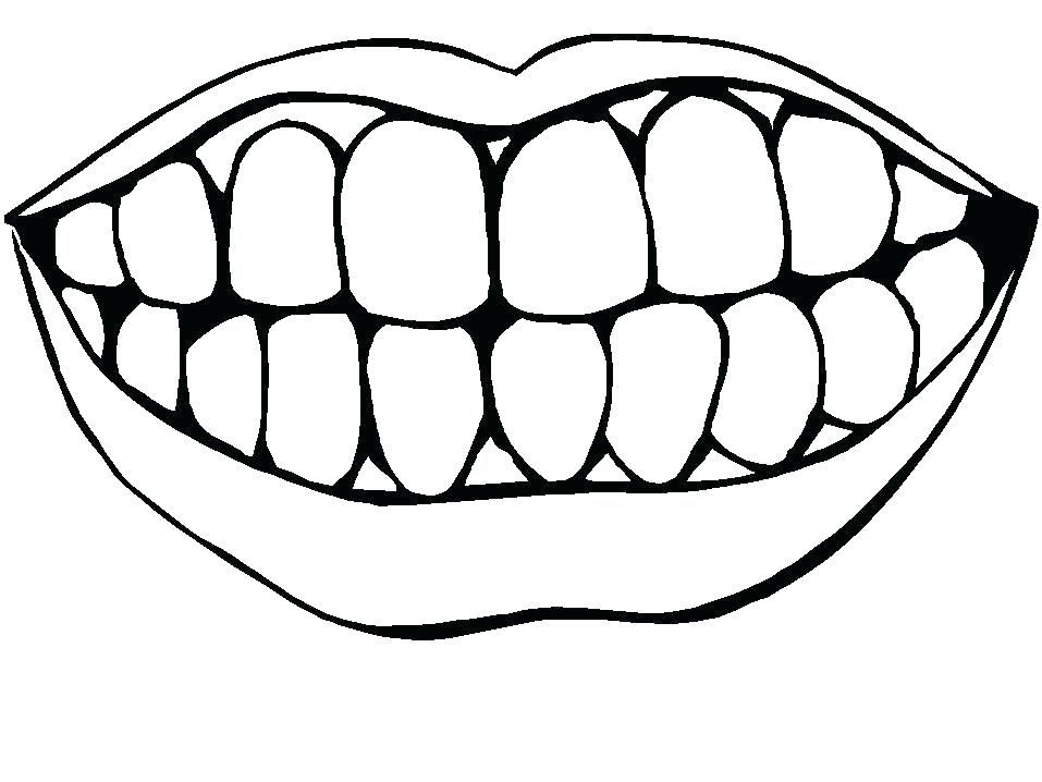 tooth coloring page coloring teeth coloring pages | Dental ...