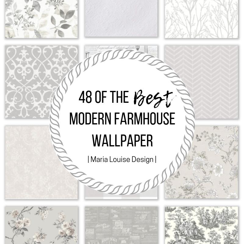 48 Of The Best Modern Farmhouse Wallpaper Maria Louise Design Farmhouse Wallpaper Farmhouse Style Rugs Farmhouse Window Treatments