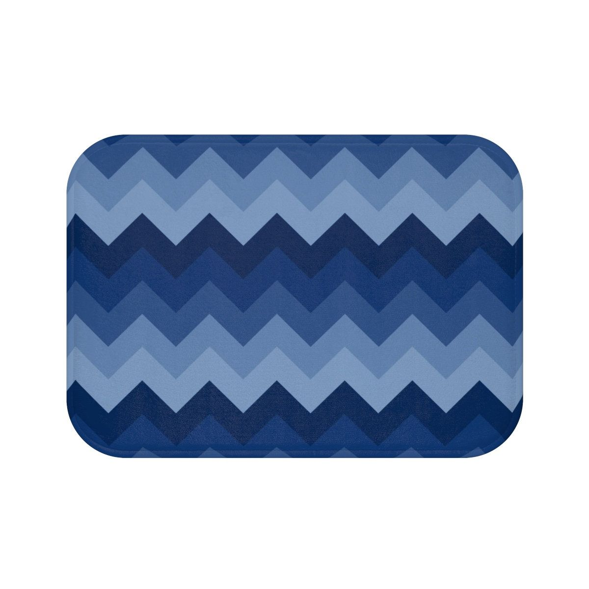Navy Blue Bath Mat Memory Foam Bathroom Bathtub Shower Decor