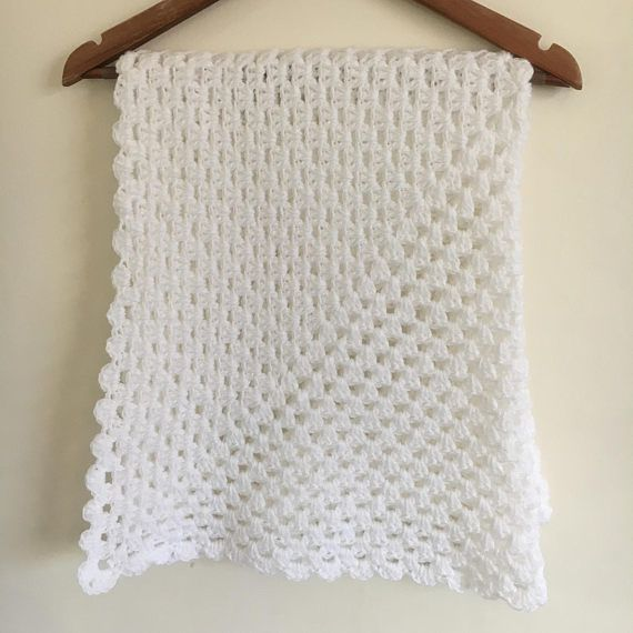 Christening blanket, Baptism Blanket, Baby Blanket crochet blanket ...
