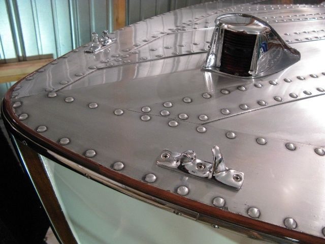 Hull Of A Boat Made With Aircraft Aluminum And Rivets