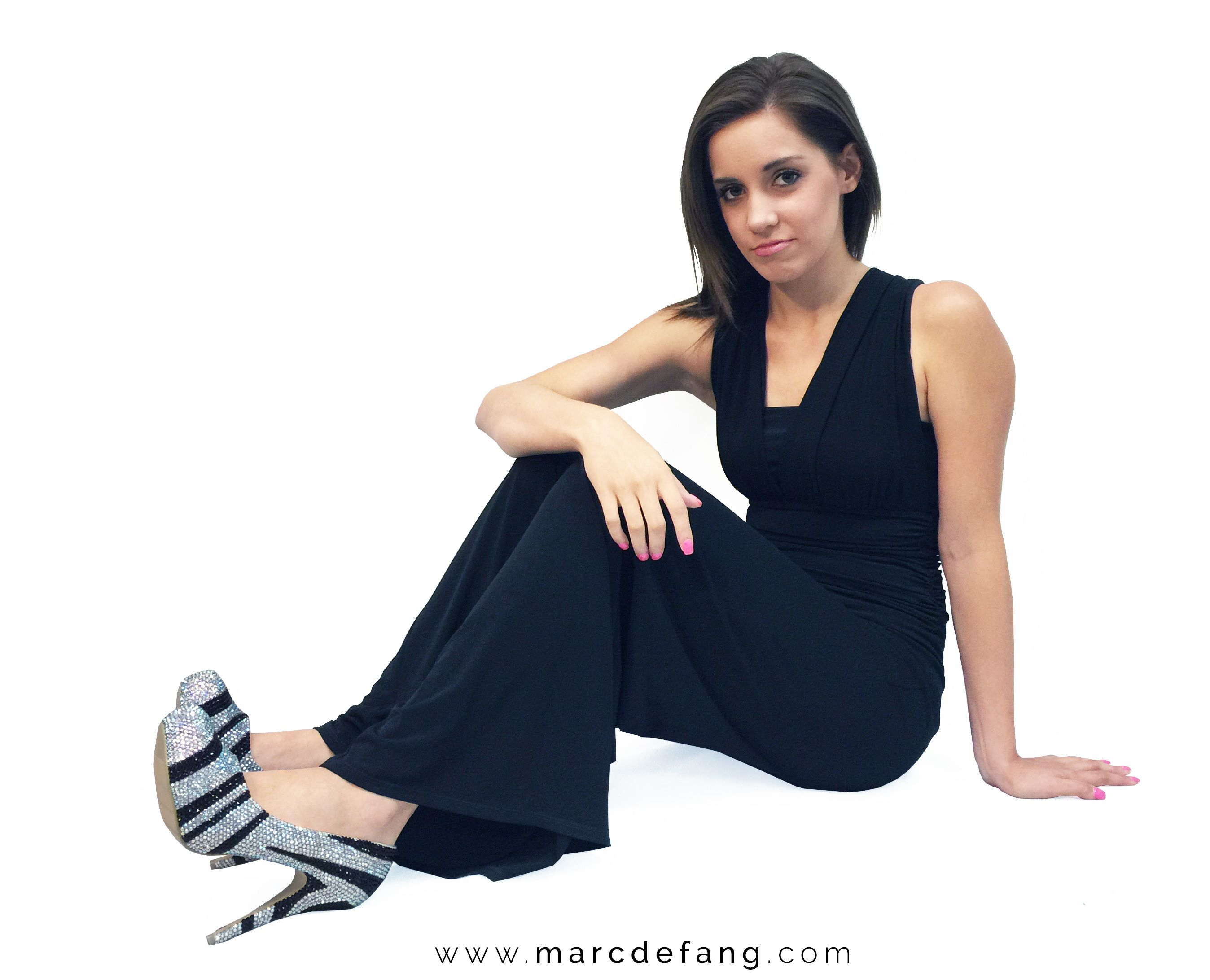 Suitable for all occasions, gowns, jeans and work attire, these Marc Defang AB crystal Jet Black Stripe Heels are designed for your EVERYDAY WEAR.  <3 <3 <3  http://www.marcdefang.com/irregular-stripes-luxury-formal-wear-platform-heels/