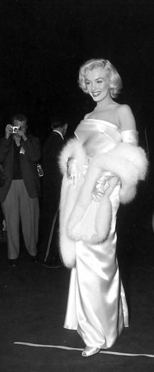"""Marilyn at the premiere of """"Call Me Madam"""", 1953."""