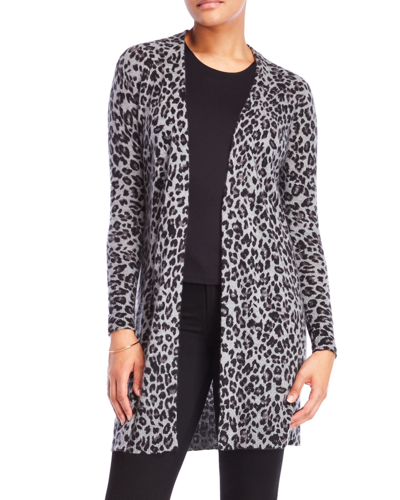 Diffusion By Minnie Rose Leopard Print Open Cardigan | *Apparel ...