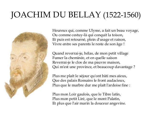 Afbeeldingsresultaat voor joachim du bellay heureux qui comme ulysse