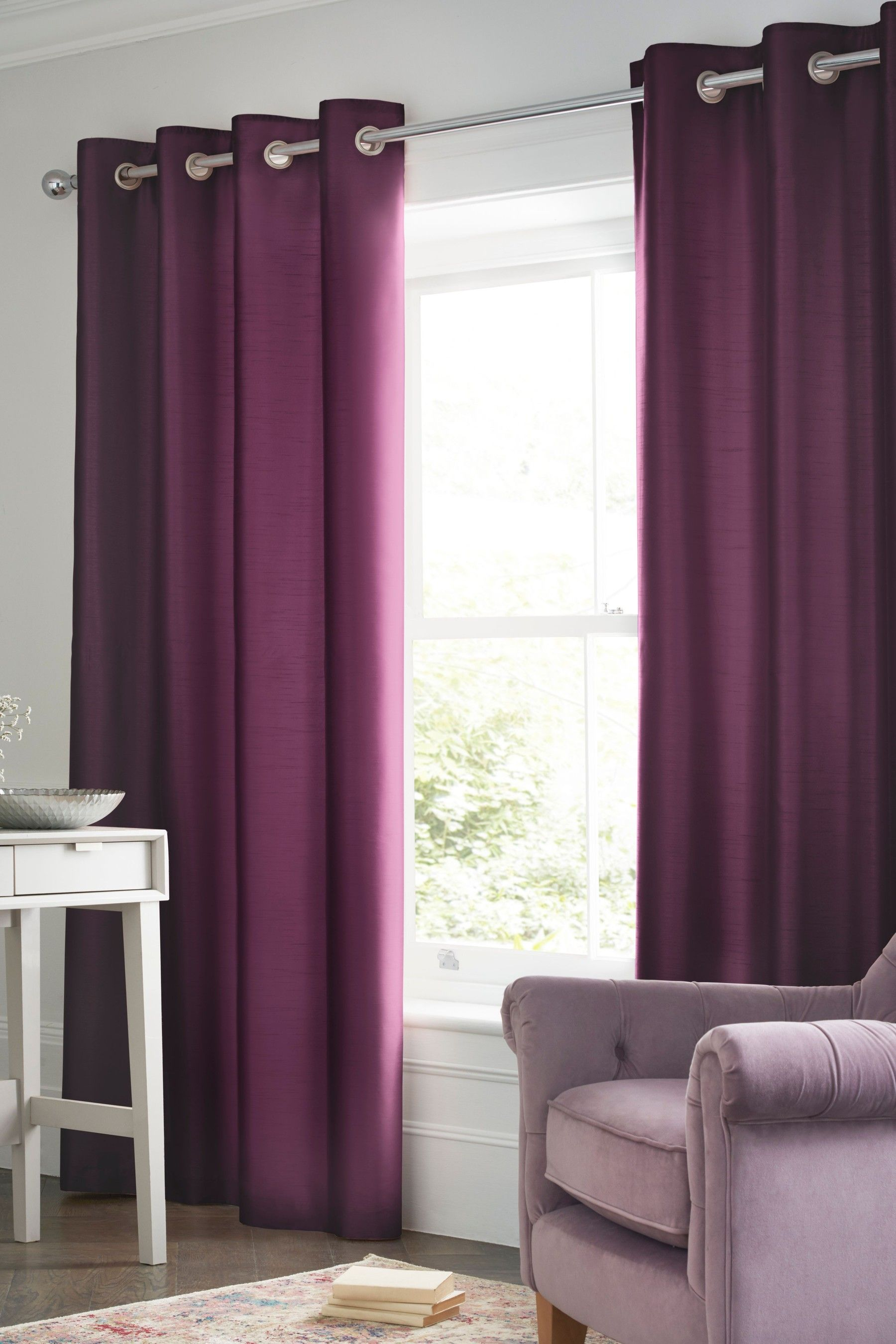 Starlight Eyelet Curtains Curtains Pleated Curtains Pencil Pleat