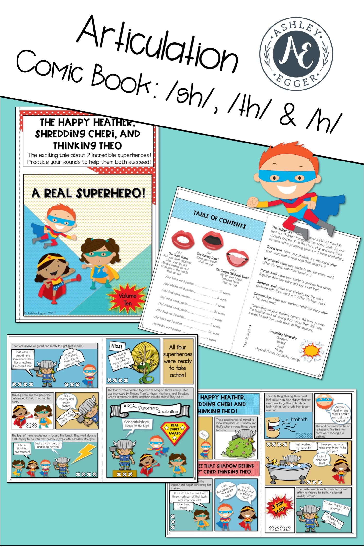 Sh Th And H Articulation Therapy Activity And Speech