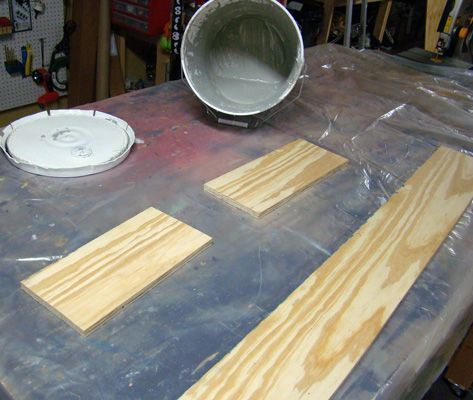 Drylok Bases: Paint the wood bases on both sides twice with