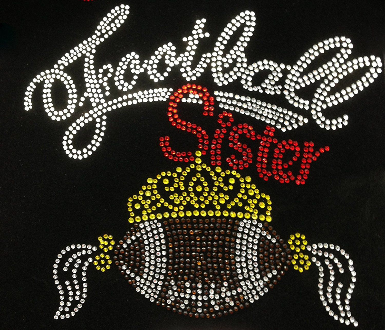 1 x Little Sister Sew On//Iron On Embroidered Patch Badge Applique DIY Motif