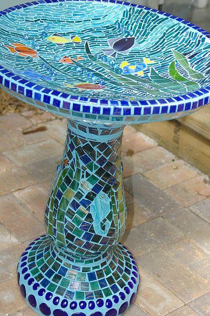 Fish Birdbath By Debbie S Mosaics Via Flickr Bird Baths