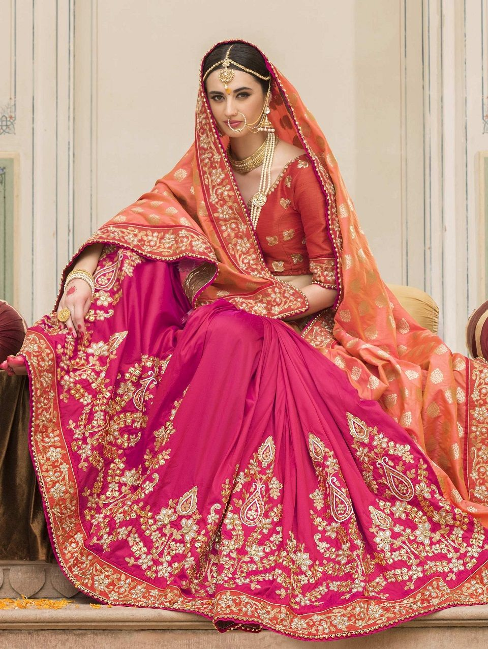 987d61a787 Indian Wedding Saree Latest Designs & Trends 2019-2029 Collection ...
