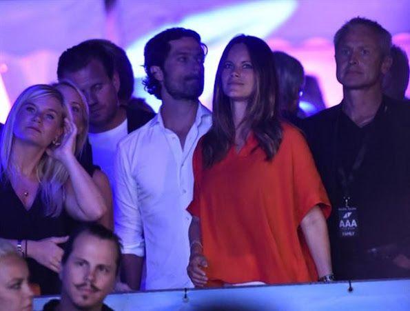 Prince Carl Philip and Princess Sofia at DJ Avicii concert