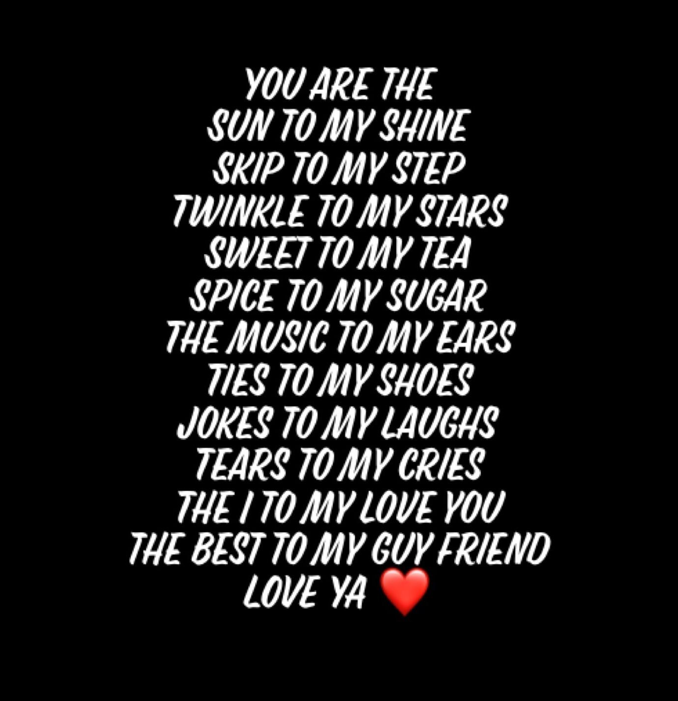 I love you best guy friend quotes