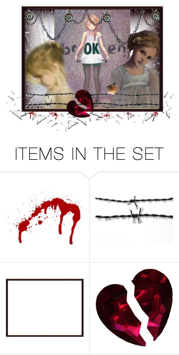 """Broken"" by rainingviolets ❤ liked on Polyvore featuring art"