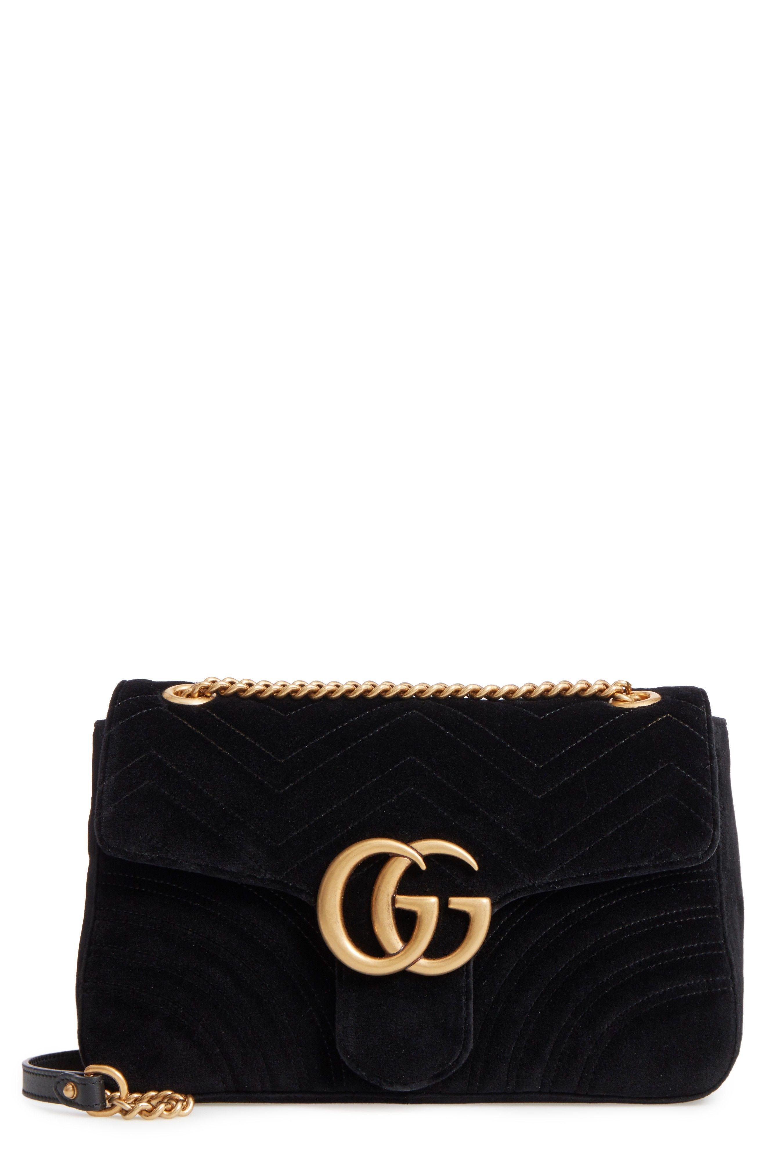 6ba4259d6f1 Medium GG Marmont 2.0 Matelassé Velvet Shoulder Bag