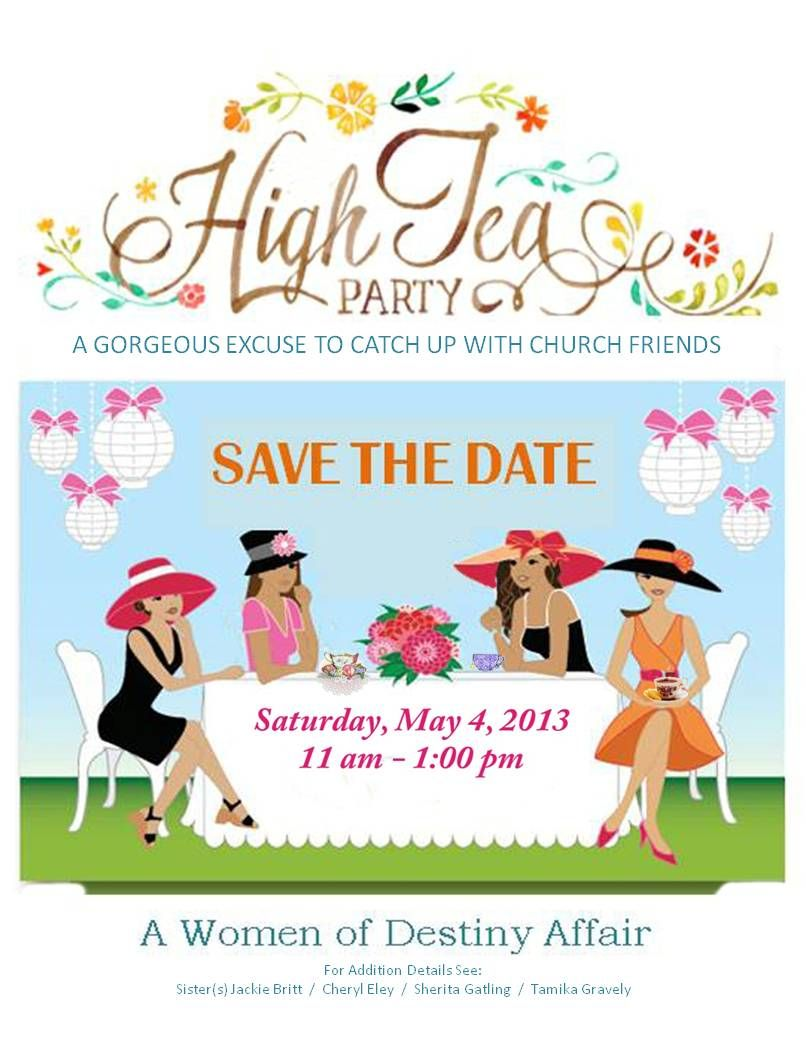 """Tea Party """"Save the Date"""""""