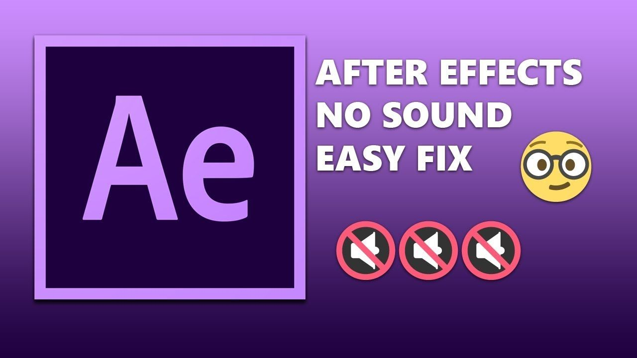 After Effects Easy Audio Preview Fix After Effects Audio Fix It