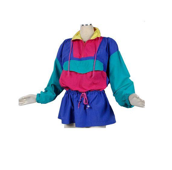 229d46a35 Vintage 80s Jacket - 80s Neon Jacket - 80s Color Block - 80s ...