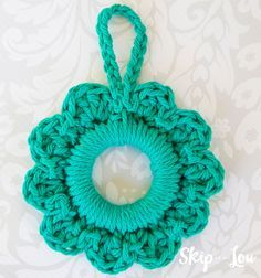 Photo of Simple crochet wreath ornament