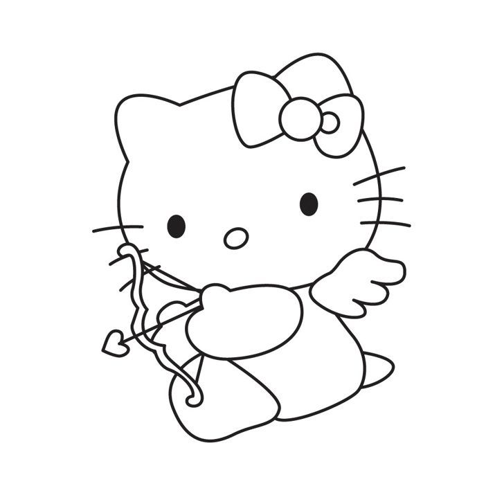 28 Pumpkin Stencils For The Best Hello Kitty Themed Halloween Hello Kitty Coloring Hello Kitty Colouring Pages Valentines Day Coloring Page