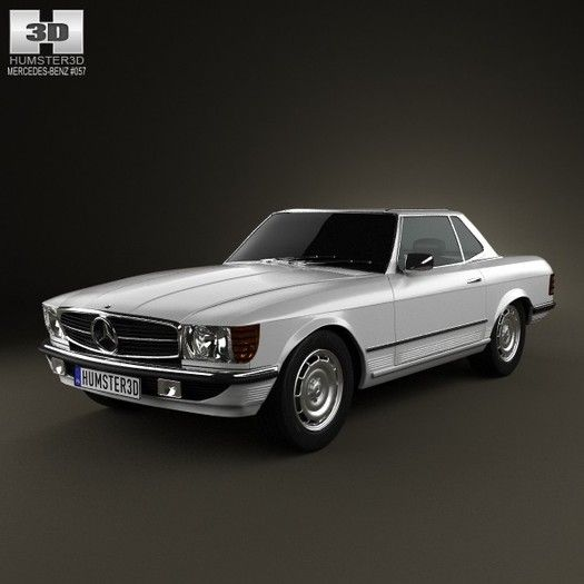 Mercedes Benz Sl Class R107 Coupe 1972 3d Model With Images