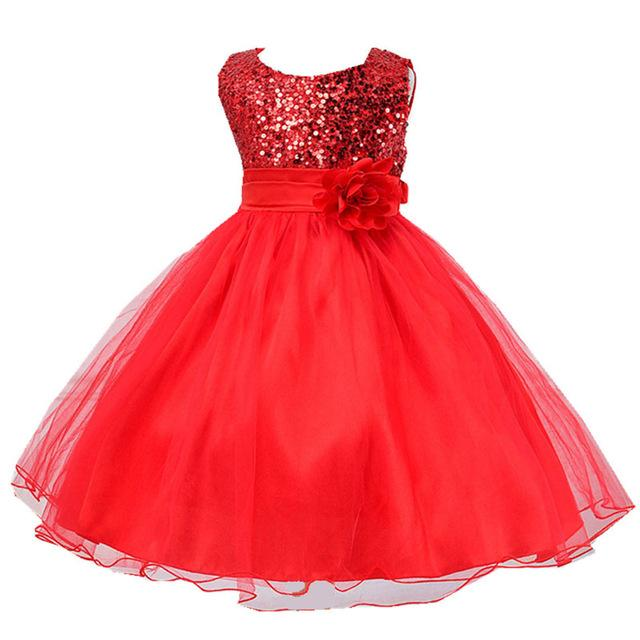 Summer Dress Girls Clothes Sequins Bowknot Dress 2018 Round neck Party  wedding dress For Girls Kids Clothing Vestidos 10 12 Year 4a190a69da59