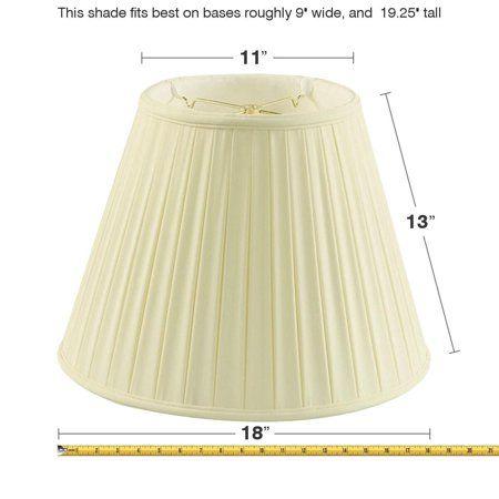 Home Concept Inc 18'' Classics Box Pleat Deluxe Shantung