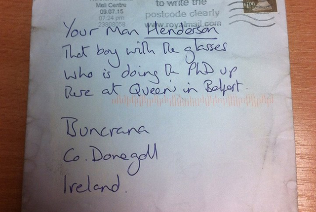 Letter With No Address Delivered Successfully To Irish Town