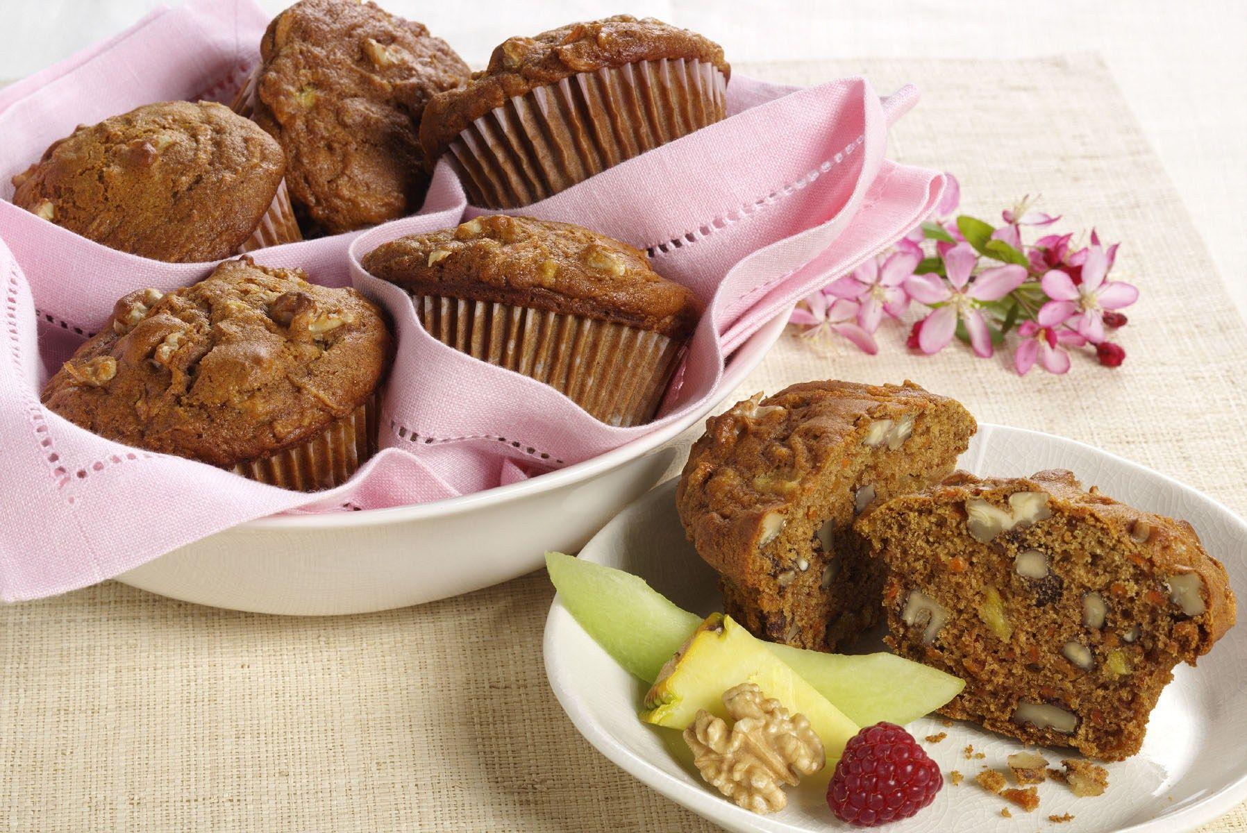 Carrot cake muffins recipe walnut recipes nut recipes