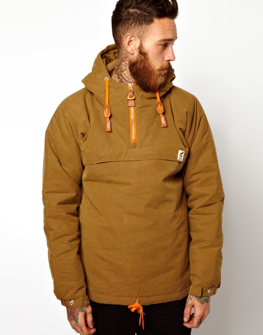 9d0a5da9 Rains Fat Moose Sailor Anorak Jacket in Brown for Men (Army) | Lyst ...