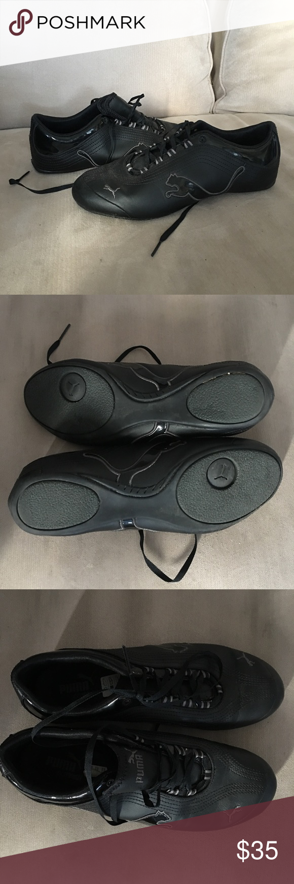 f3db1e6101e060 Puma Eco OrthoLite black shoes Black Puma shoes. Worn once. Puma Shoes  Athletic Shoes